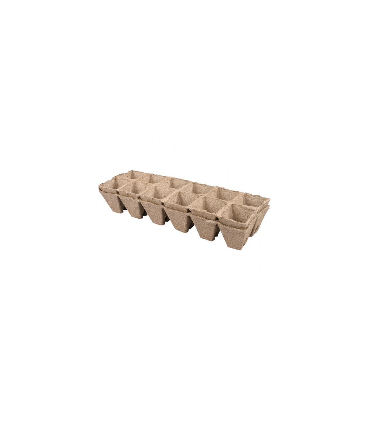 Kvetináč rašelinový 24 ks / 5x5 cm - zárez - 1 balení