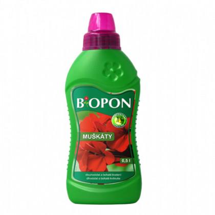 BIOPON - kvapalné hnojivo pre muškáty - 0, 5 l